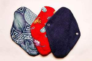 natural alternative to menstrual pads and tampons - different menstrual pad designs